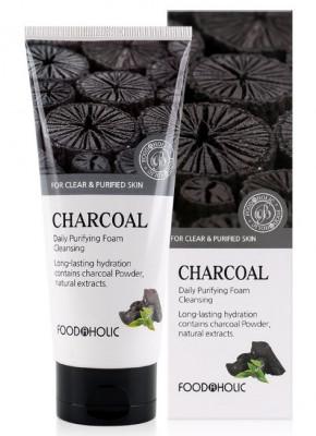 Пенка для умывания с древесным углем FoodaHolic Charcoal Daily Purifying Foam Cleansing 180мл: фото