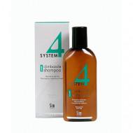 Шампунь терапевтический №1 для нормальных и склонных к жирности волос SIM SENSITIVE System4 215мл: фото