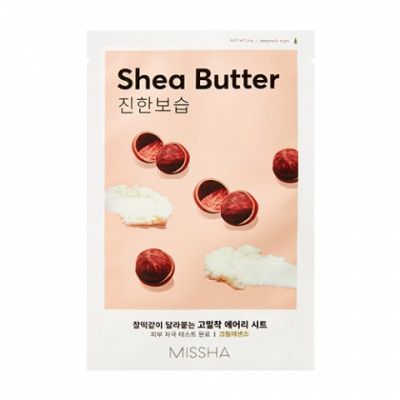 Маска тканевая питательная с маслом Ши MISSHA Airy Fit Sheet Mask Shea Butter: фото