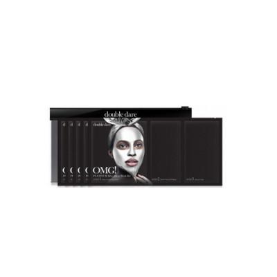 Трёхкомпонентный комплекс масок АКТИВНЫЙ ЛИФТИНГ И ВОССТАНОВЛЕНИЕ Double Dare OMG! Platinum Silver Facial Mask Kit 5 шт: фото