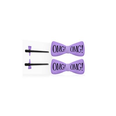 Заколки для фиксации волос во время косметических процедур Double Dare OMG! лавандовые 2шт: фото