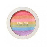Румяна-хайлайтер компактные THE SAEM Eco Soul Prism Blusher 8г: фото