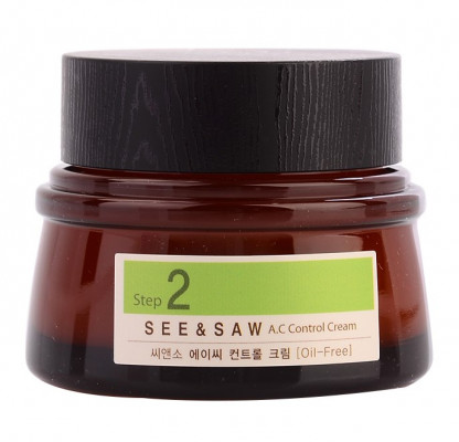 Крем для контроля чистоты и жирности кожи THE SAEM SEE&SAW AC CONTROL CREAM 60мл: фото