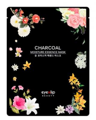 Маска для лица тканевая Eyenlip CHARCOAL OIL MOISTURE ESSENCE MASK 25мл: фото