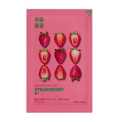 Маска тканевая освежающая Holika Holika PURE ESSENCE Pure Essence Mask Sheet Strawberry, клубника 20 мл: фото