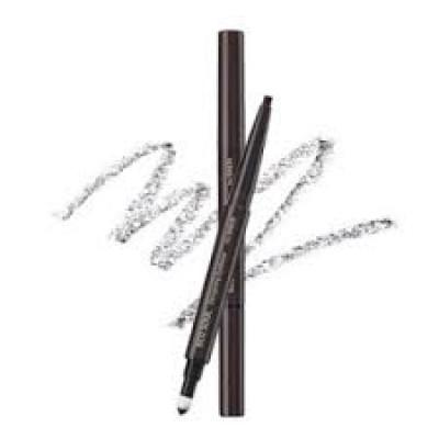 Карандаш для бровей 3 в1 THE SAEM Eco Soul Designing Eyebrow 03 Grey Brown 0,2+0,12гр: фото