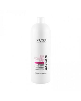 Бальзам для окрашенных волос с рисовыми протеинами и экстрактом женьшеня Kapous Professional 1000 мл: фото
