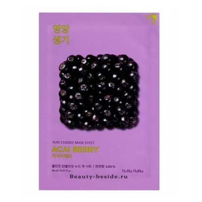 Маска тканевая витаминизирующая ягоды асаи Holika Holika Pure Essence 20 мл: фото