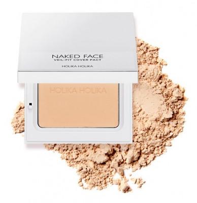 Пудра компактная Holika Holika Naked Face Veil-Fit Cover Pact 02 Natural Beige, натурально-бежевый 12 г: фото