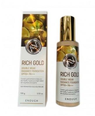 Тональный крем антивозрастной ENOUGH Rich Gold Double Wear Radiance Foundation SPF50+ PA+ тон13: фото