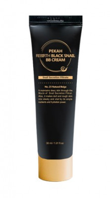 BB-крем с муцином черной улитки PEKAH Rebirth Black Snail BB Cream тон21 30 мл: фото