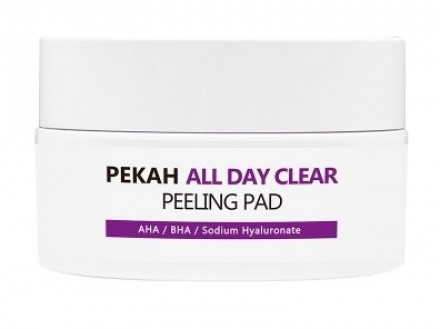 Пилинг-диски для лица с кислотами PEKAH All Day Clear Peeling Pad 65мл*40шт: фото