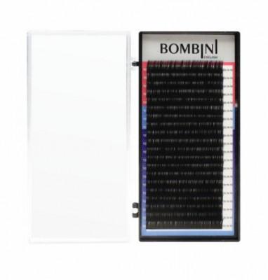 Ресницы Bombini Черные, 20 линий, изгиб D+ – MIX 9-12 0.07: фото
