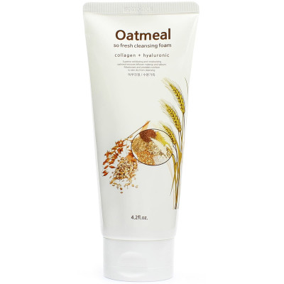 Пена для умывания с экстрактом овса Kkotminam So Fresh Cleansing Foam Oatmeal 120 мл: фото