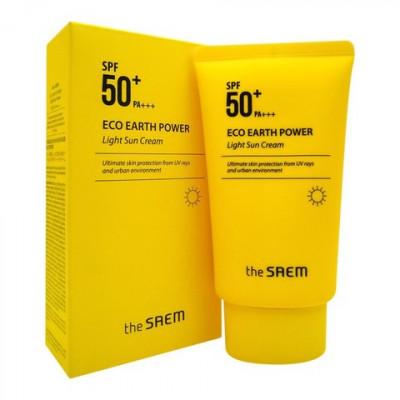 Солнцезащитный крем легкий Eco Earth Light Sun Cream SPF50+ PA++++ 50мл: фото