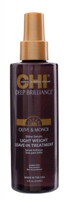 Сыворотка-Сияние Легкая Несмываемая CHI Deep Brilliance Olive & Monoi Shine Serum Light Weight Leave-In Treatment 177 мл: фото