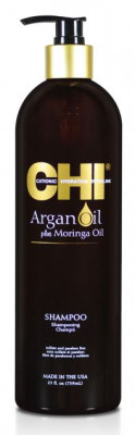 Шампунь с Маслом Арганы и Маслом Моринга CHI Argan Oil Plus Moringa Oil Shampoo 739мл: фото