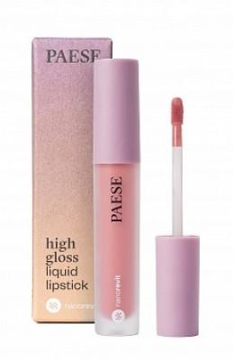 Помада жидкая PAESE High gloss liquid lipstick NANOREVIT 50 Bare Lips: фото