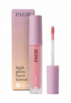 Помада жидкая PAESE High gloss liquid lipstick NANOREVIT 51 Soft Nude: фото
