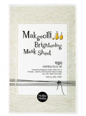 Тканевая маска с рисовым вином Holika Holika Makgeolli Brightening Mask Sheet 20 мл: фото